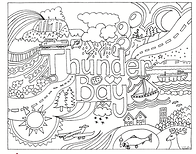 photo regarding Thunder Schedule Printable named 6 absolutely free printable Thunder Bay colouring internet pages for little ones