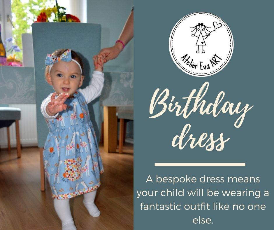 Bespoke birthday dress