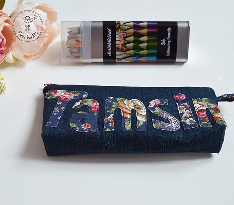 Personalised pencil/cosmetic case