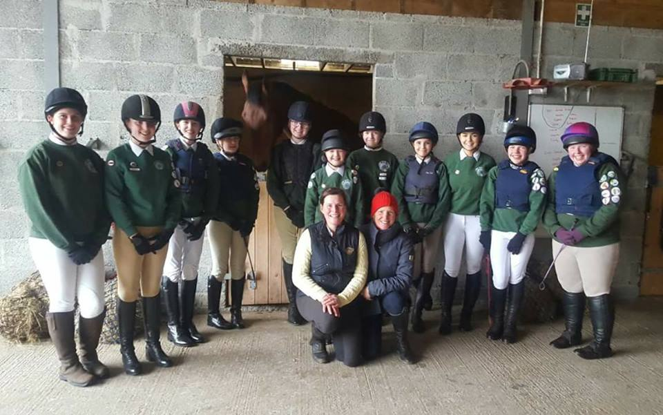 Pony Clubbers with Becky Cullen