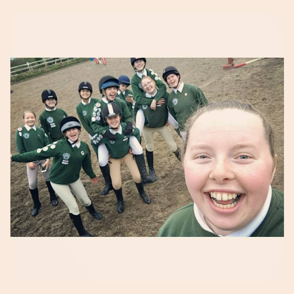 Pony Clubbers celebrating passing