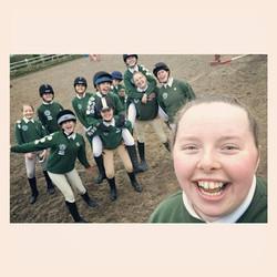 Pony Clubbers celebrating passing