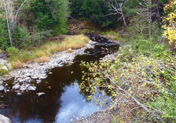 Burgess Brook (formerly Negro Brook) as it flows from Bull Lake near Fredericton