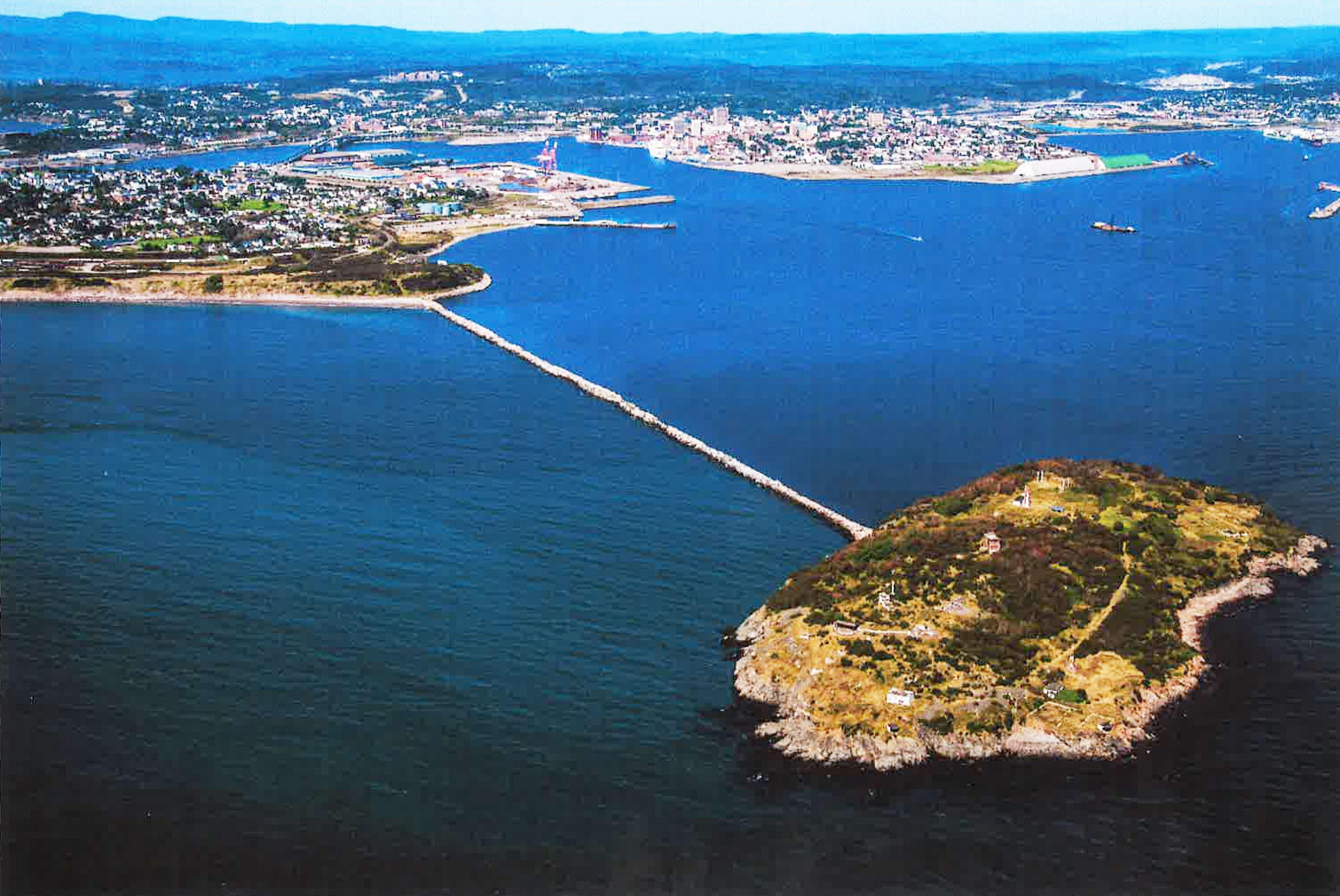 Hodges Point Breakwater (formerly Negro Point Breakwater) in west Saint John