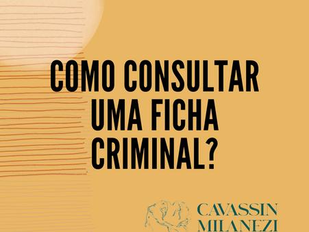 Consulta de antecedentes criminais