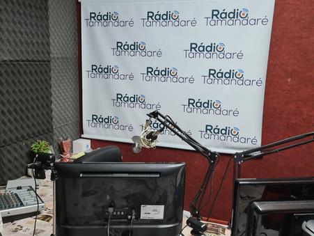 Entrevista na rádio Tamandaré