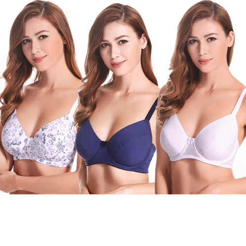 b400357f1d0 Underwired Balconette Bra   Plus Size Bra Pack of 3 …