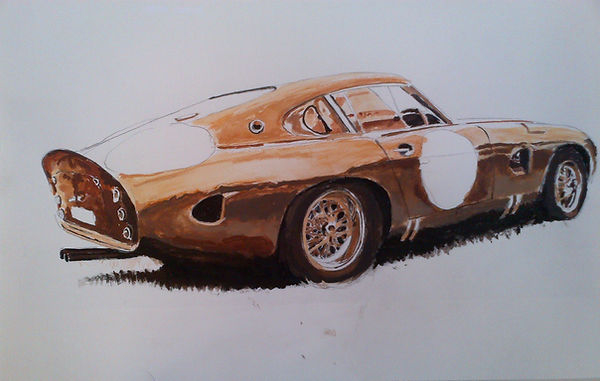 Historic race cars - Aston Martin DP 215