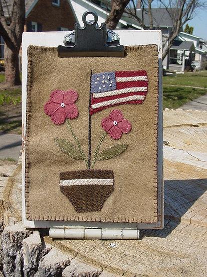 Summer Flower Pot - Wool Decor Pattern