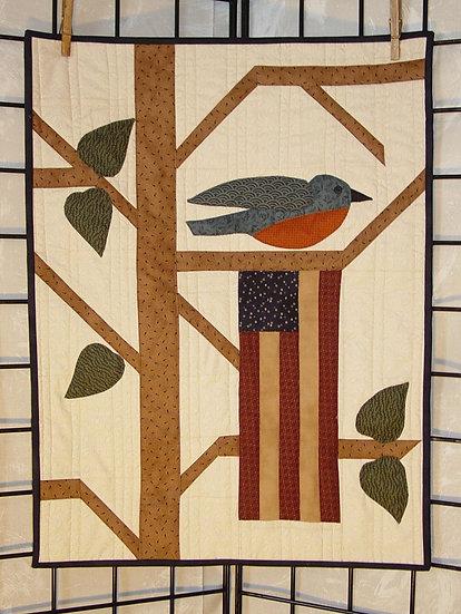 Blue Bird of Summer - Decor Pattern