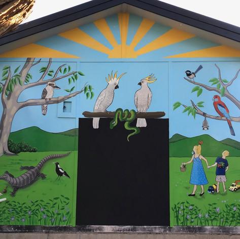 Mural for private residence.