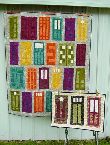 Doors of a Different Color - Quilt Pattern - 2 projects in 1