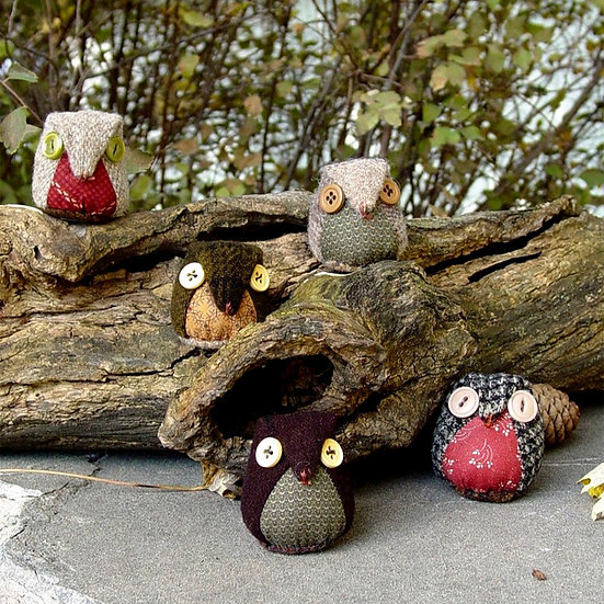Owl Friends- Pincushion Pattern