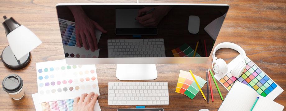 KarrieBelle Designs hands on computer