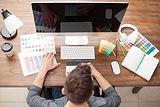Designer auf Computer