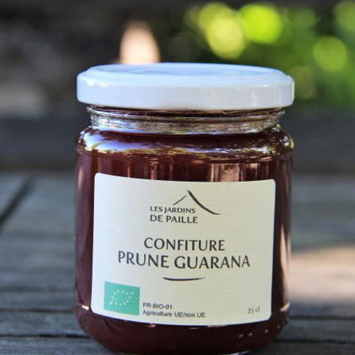 Confiture Prune rouge et guarana