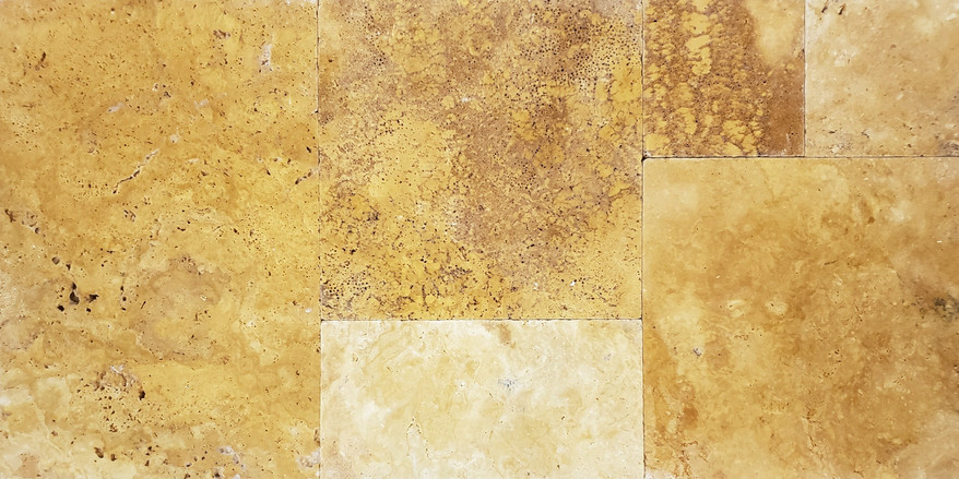 Sienna Gold Travertine French Pattern