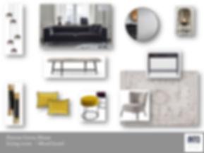 INTO interior design mood board living r
