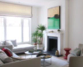 Living room Fulham green painting INTO i