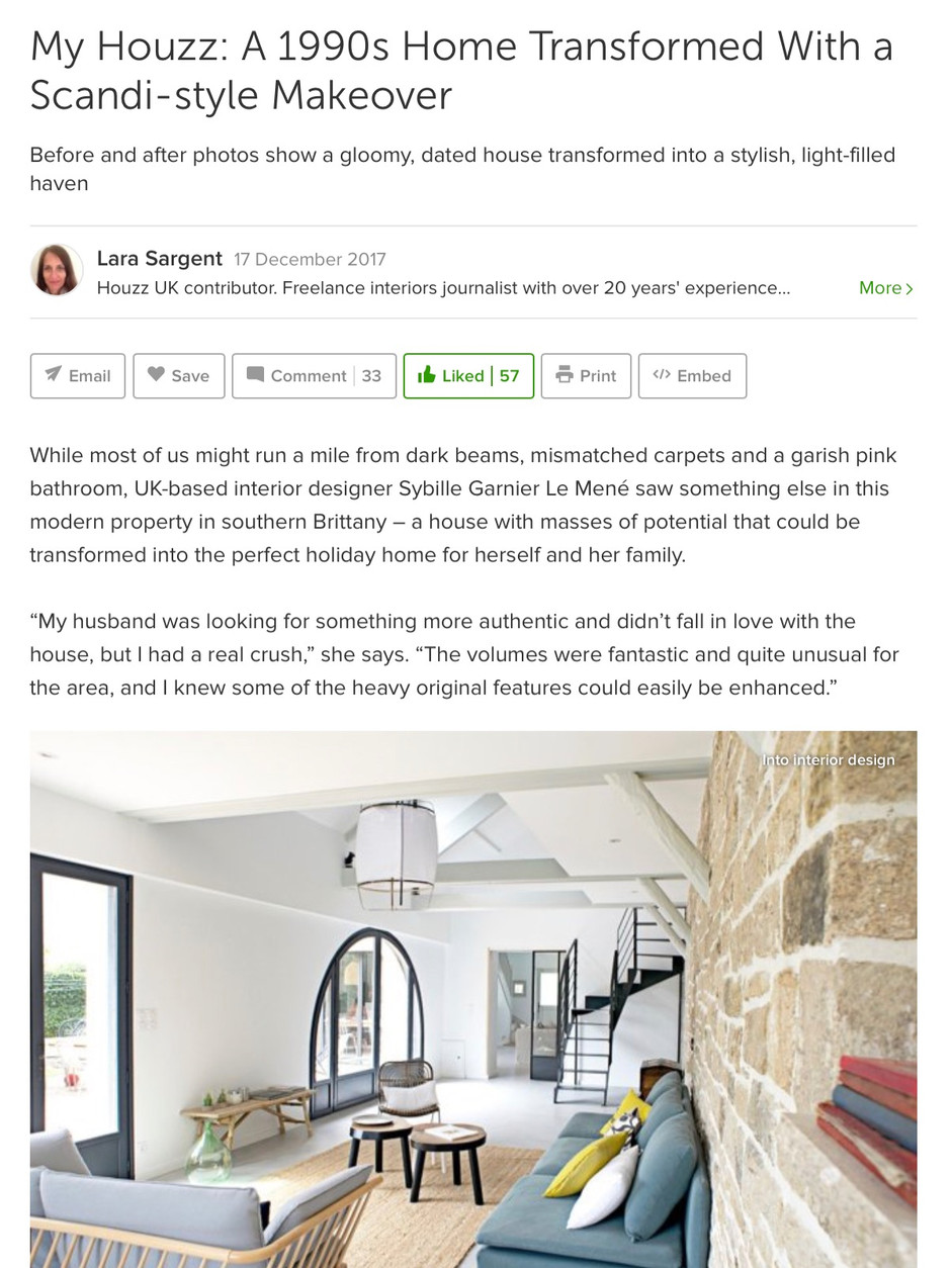 Featured in Houzz UK, Brittany House