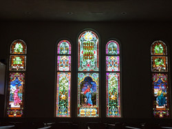 Stained Glass in Sanctuary