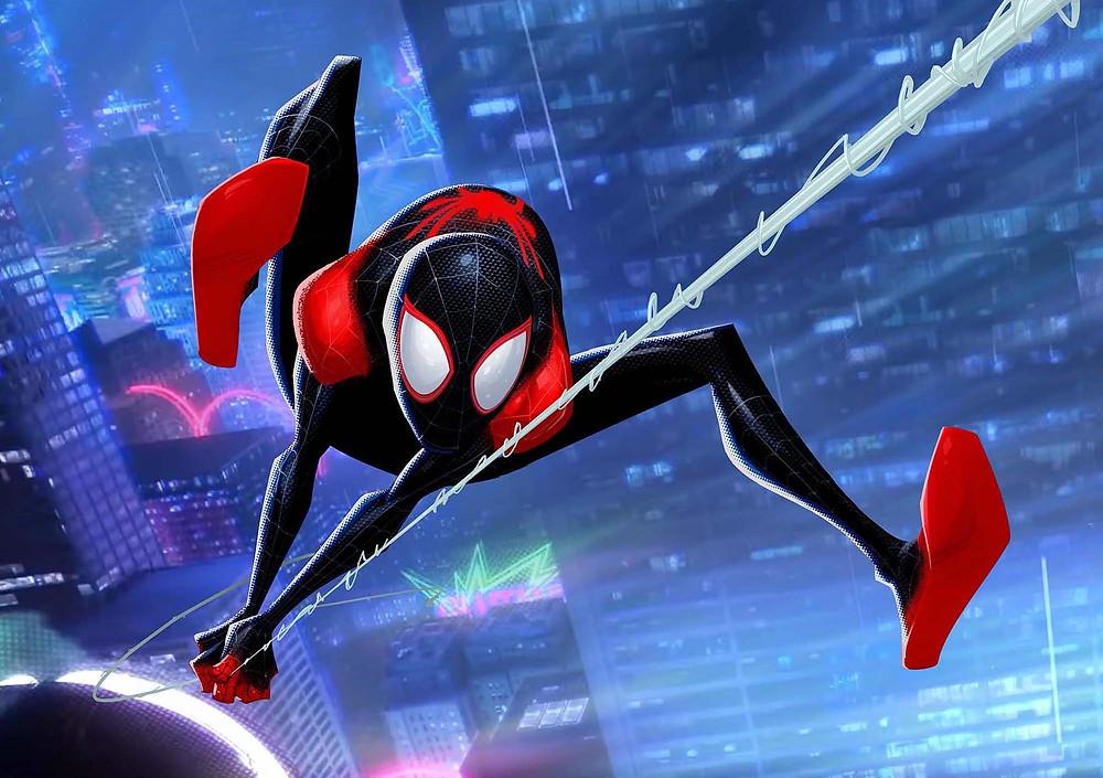 minh họa về pose trong phim hoạt hình spider-man