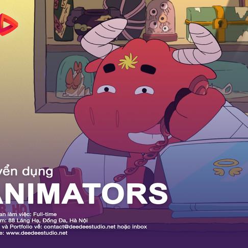 Hà Nội - DeeDee Animation Studio Tuyển Dụng Animators / Họa Sĩ Diễn Hoạt