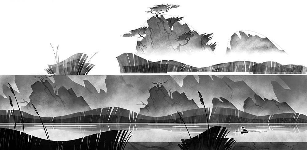 """concept art trong phim hoạt hình """"Tàn Thể: Tiền Truyện"""""""