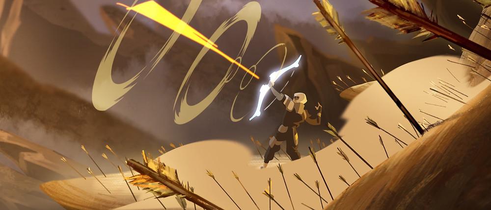 """cảnh phim hoạt hình 2D """"đấu trường danh vọng"""" của deedee animation studio"""