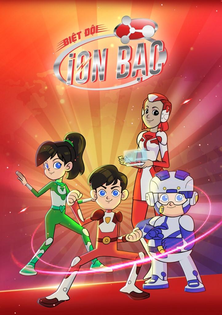"""Poster series hoạt hình """"Biệt Đội iOn Bạc"""""""