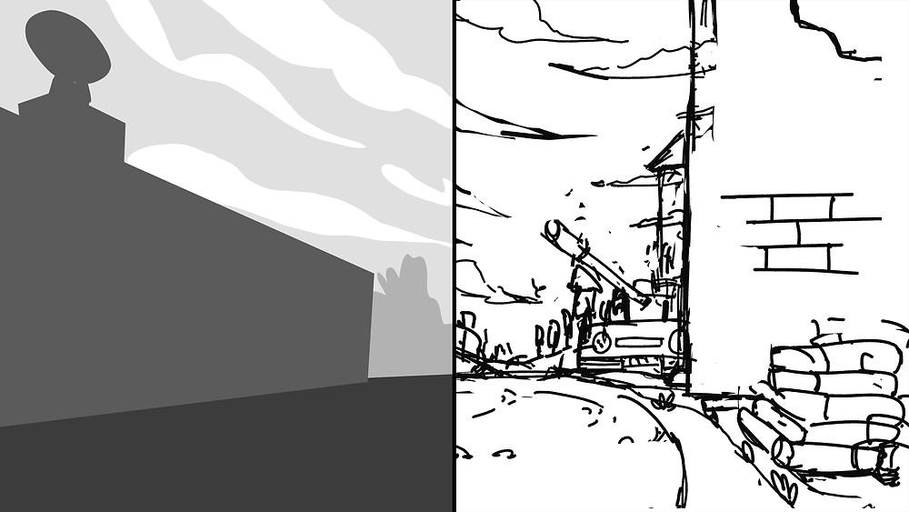sử dụng thumbnail để phác thảo background