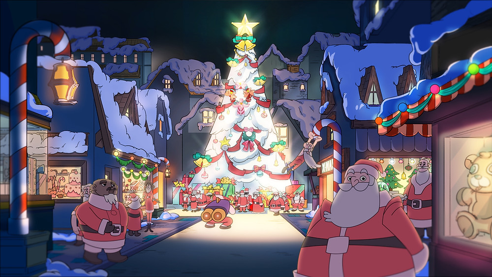"""Cảnh trong tập đặc biệt Giáng Sinh của series hoạt hình """"Biệt Đội iOn Bạc"""""""