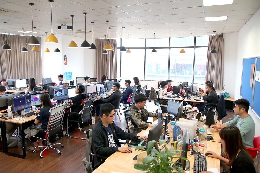 toàn cảnh văn phòng của DeeDee Animation Studio