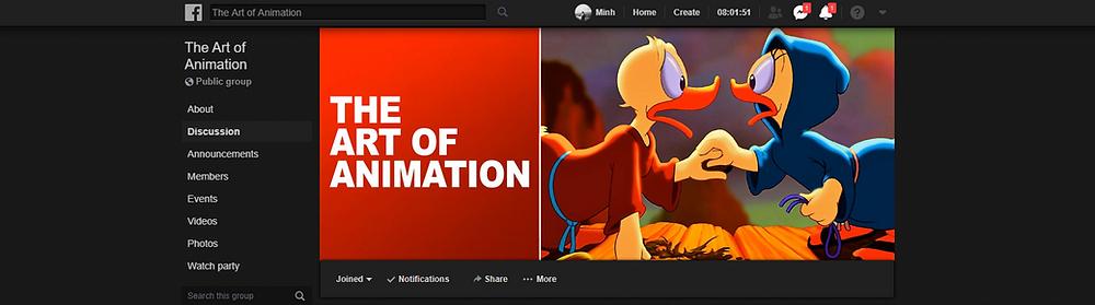 Nhóm the art of animation trên facebook
