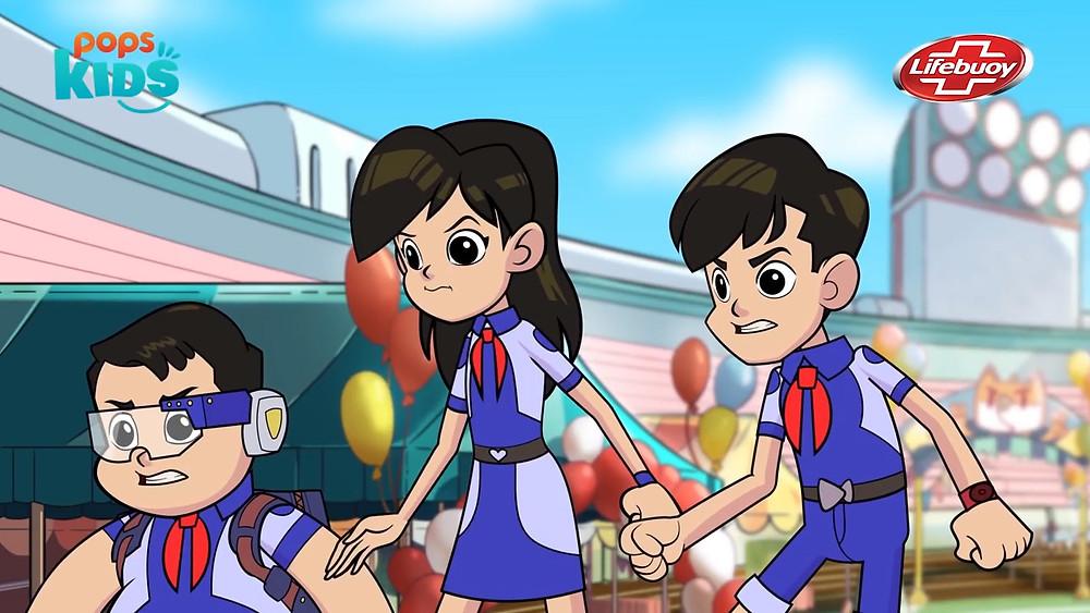 """Cảnh phim trong series hoạt hình """"Biệt Đội iOn Bạc"""""""