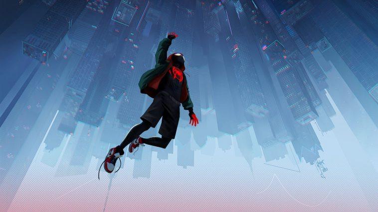 cảnh phim hoạt hình spider-man into the spider-verse