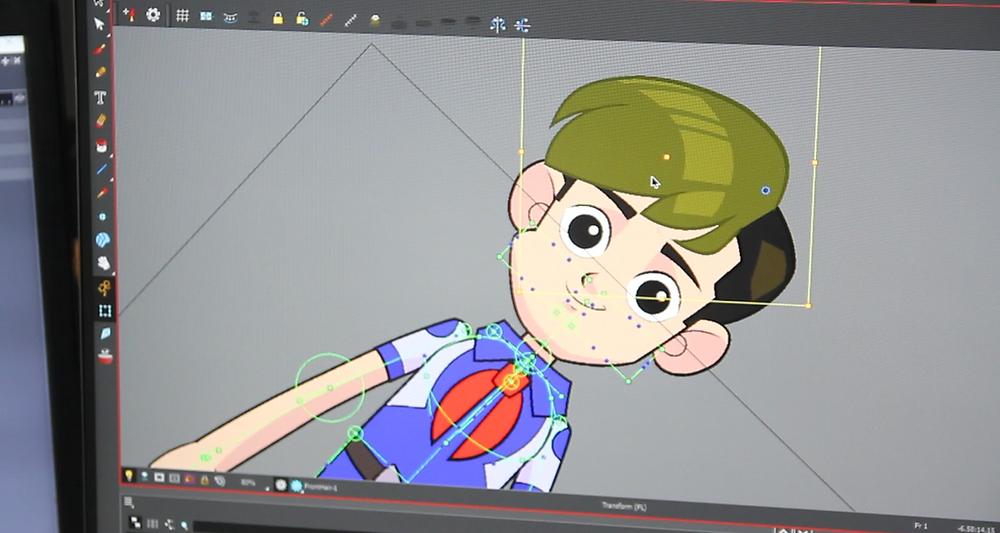 DeeDee animation studio sử dụng phần mềm toon boom harmony để sản xuất series phim hoạt hình biệt đội ion bạc