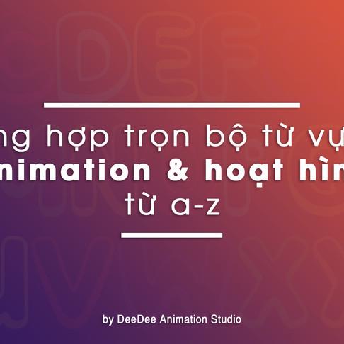 Tổng Hợp Trọn Bộ Từ Vựng Animation & Hoạt Hình Từ A-Z