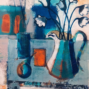 Blue Jug with Tulips