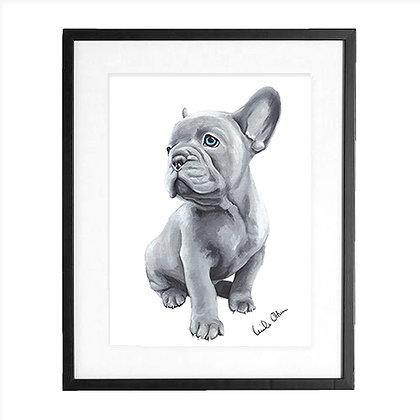 French bulldog pup - art print