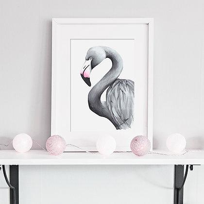 Flamingo - art print