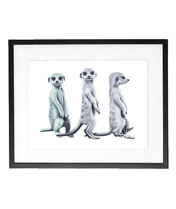 meerkats - art print