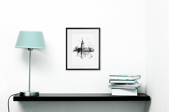 Stockholm's stadshus - art print