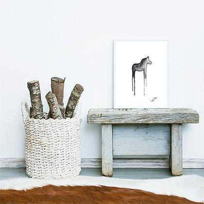 Dala horse - art print
