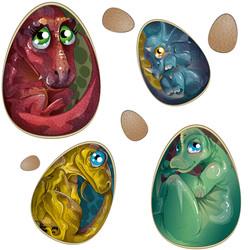 Baby Dino Eggs