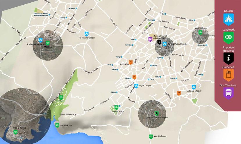 Zurrieq Map Blue Grotto