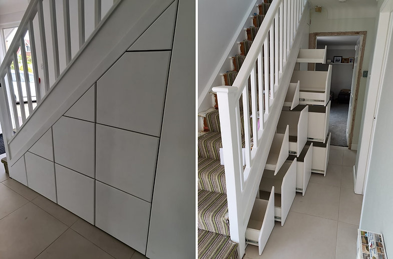 Under Stair Storage Solution