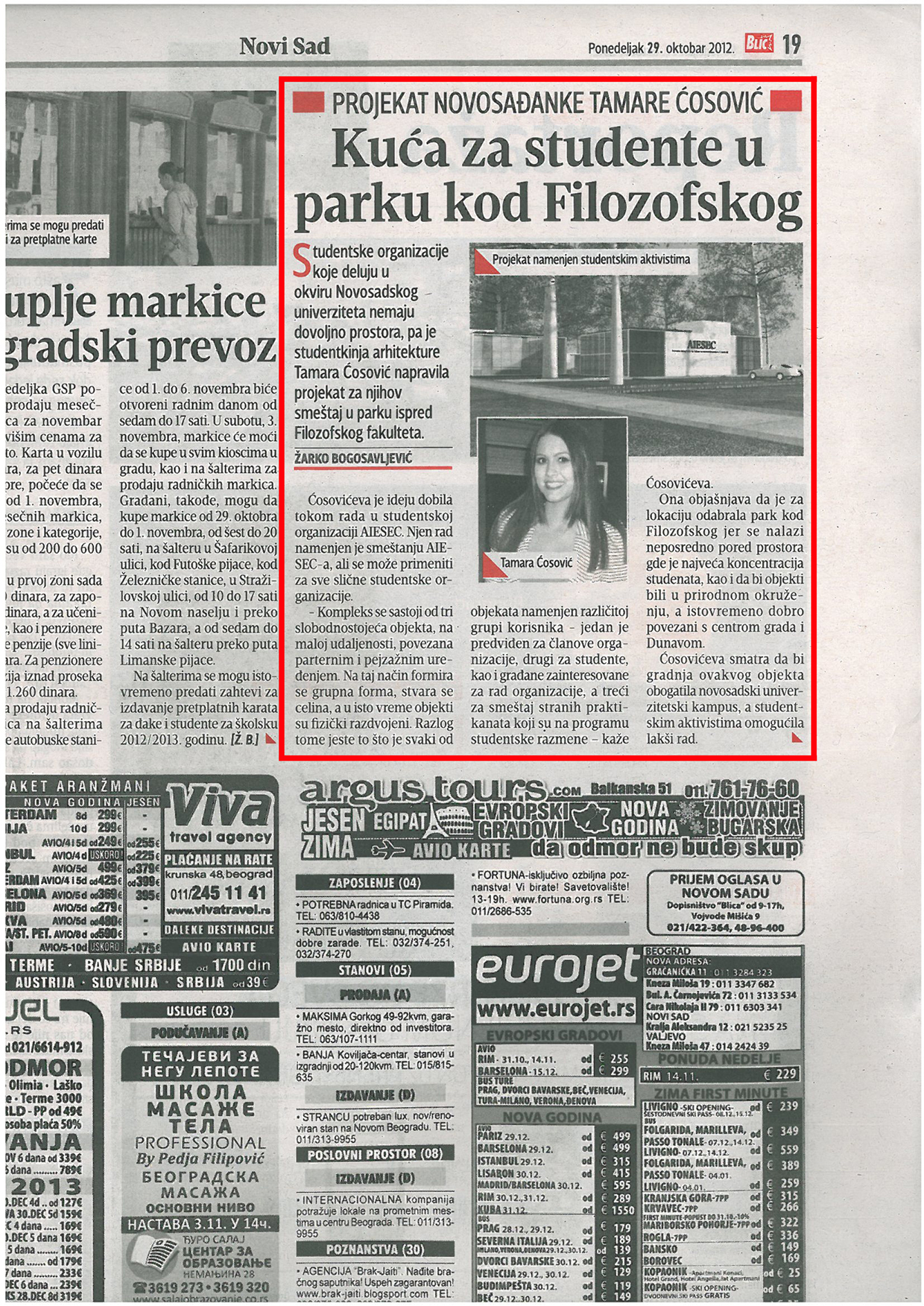 Masters Thesis in local newspaper