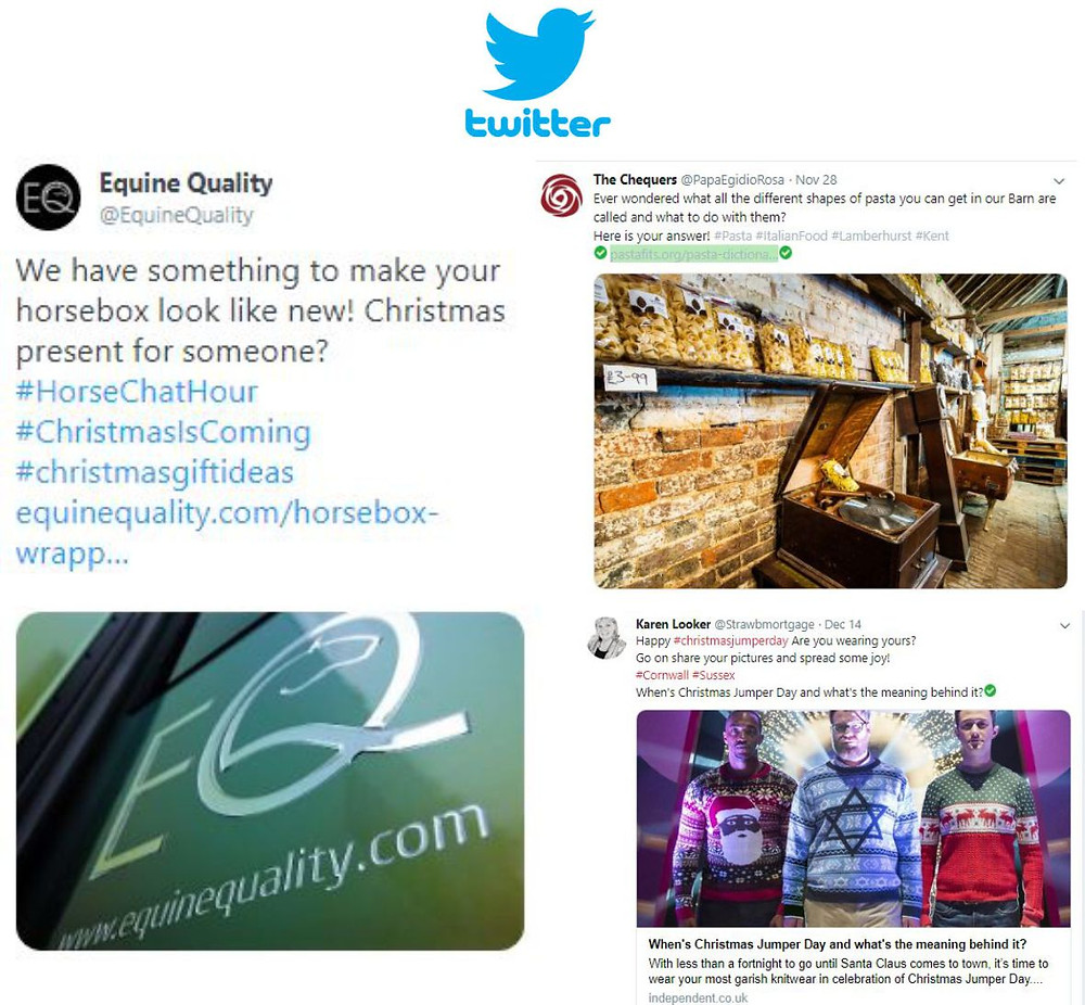 Twitter posts examples