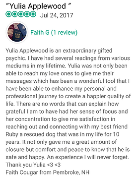 Yulia Applewood Best 5 Star Trip Advisor Psychic Medium Salem Hex: Old World Witchery